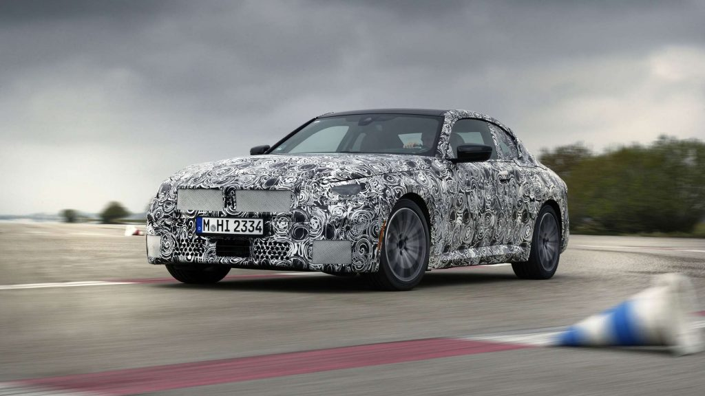 BMW 2 Series Coupe full camo front three quarter
