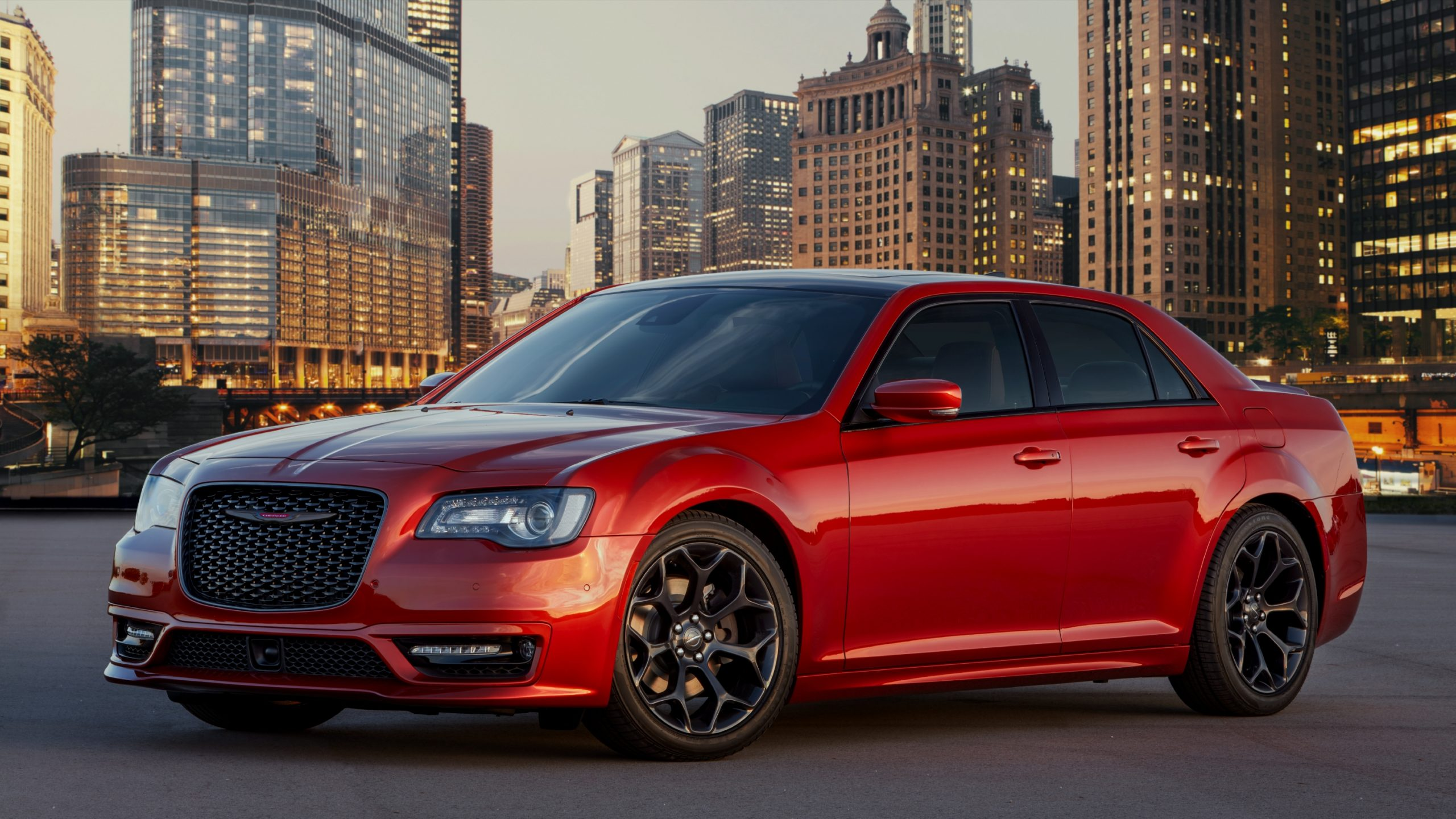 2021 Chrysler 300 in Canyon Sunset front three-quarter