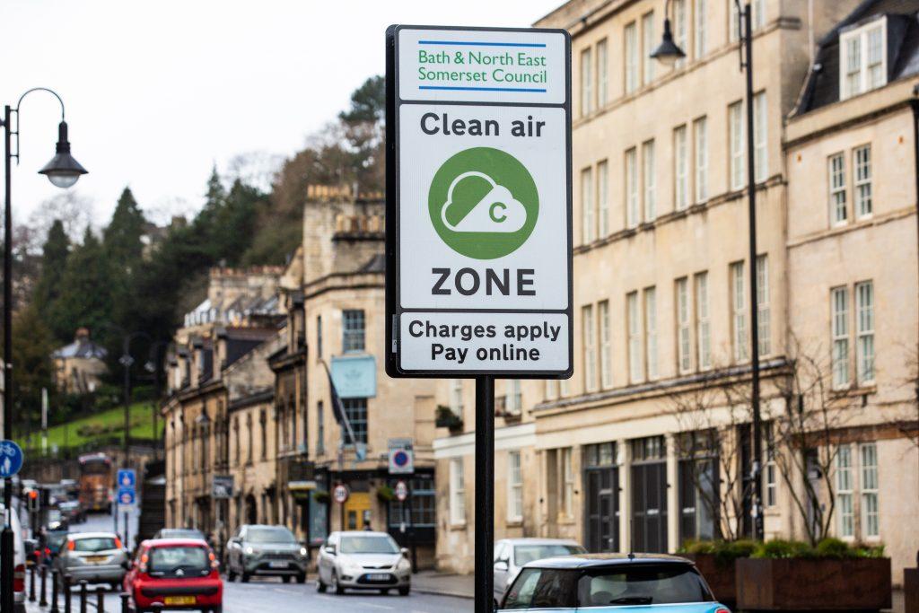 Bath Clean Air Zone sign