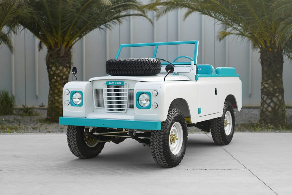 Custom Land Rover front three-quarter