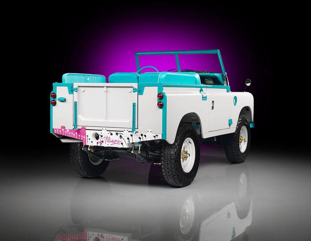 Custom Land Rover rear three-quarter