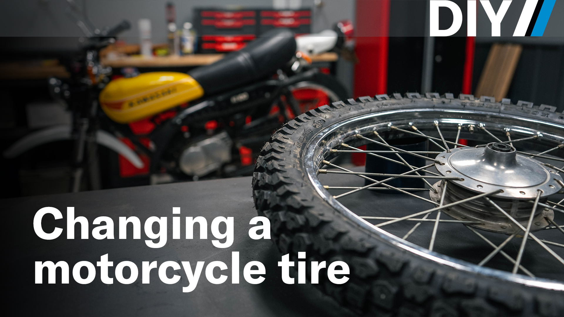 DIY changing a motorcycle tire