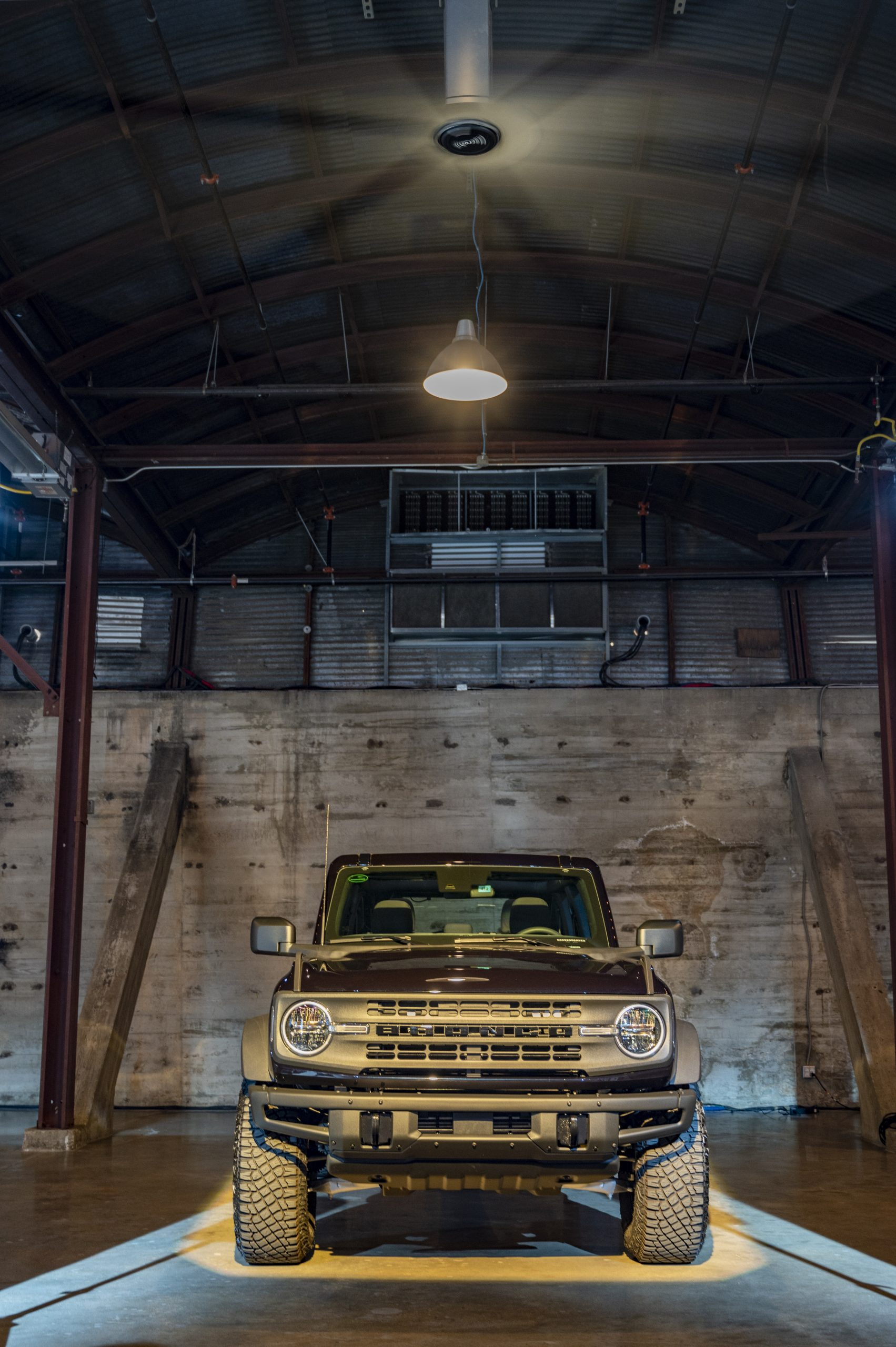 2021 Ford Bronco front vertical downlighting