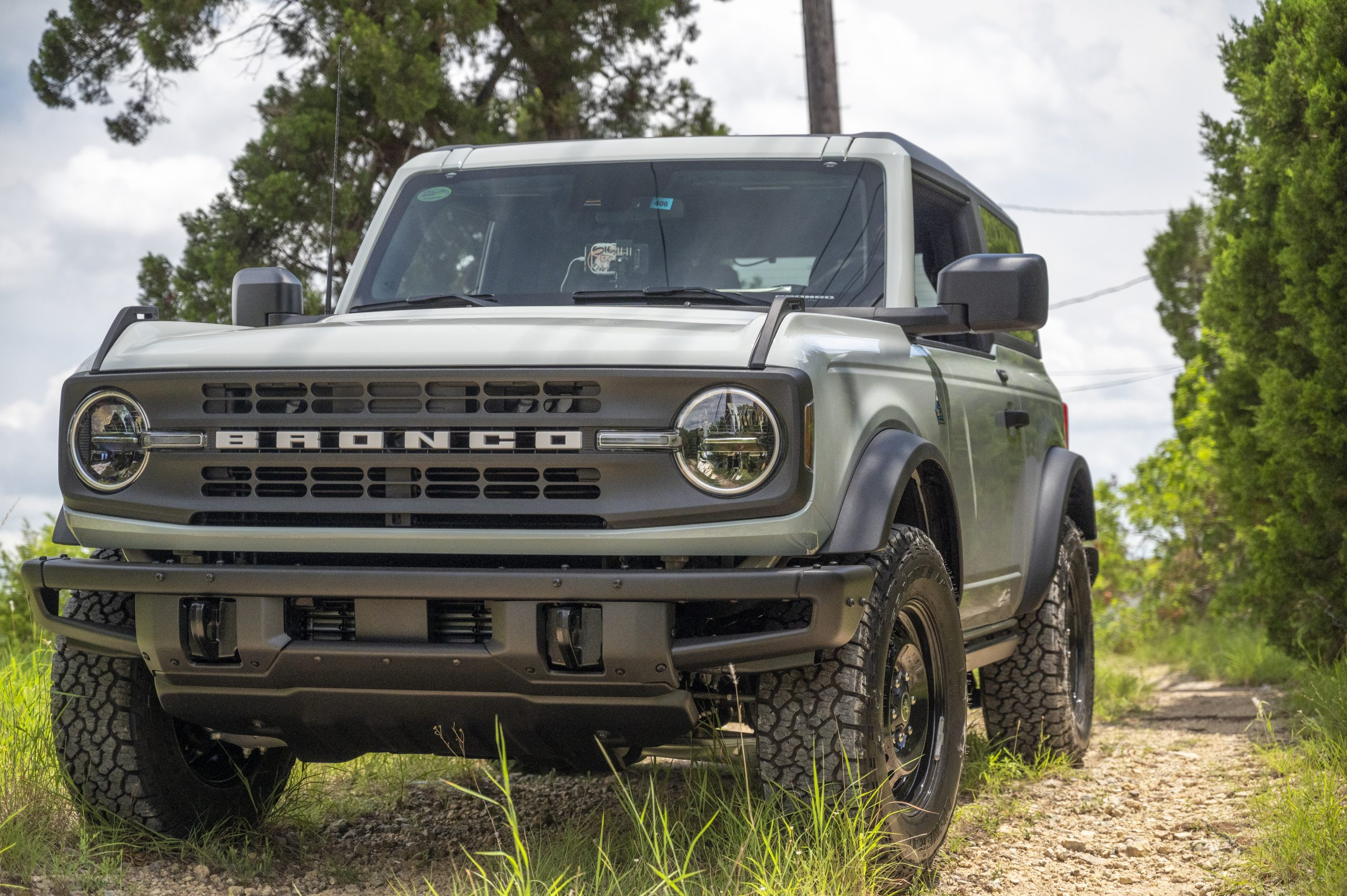 2021 Ford Bronco two door front three-quarter close