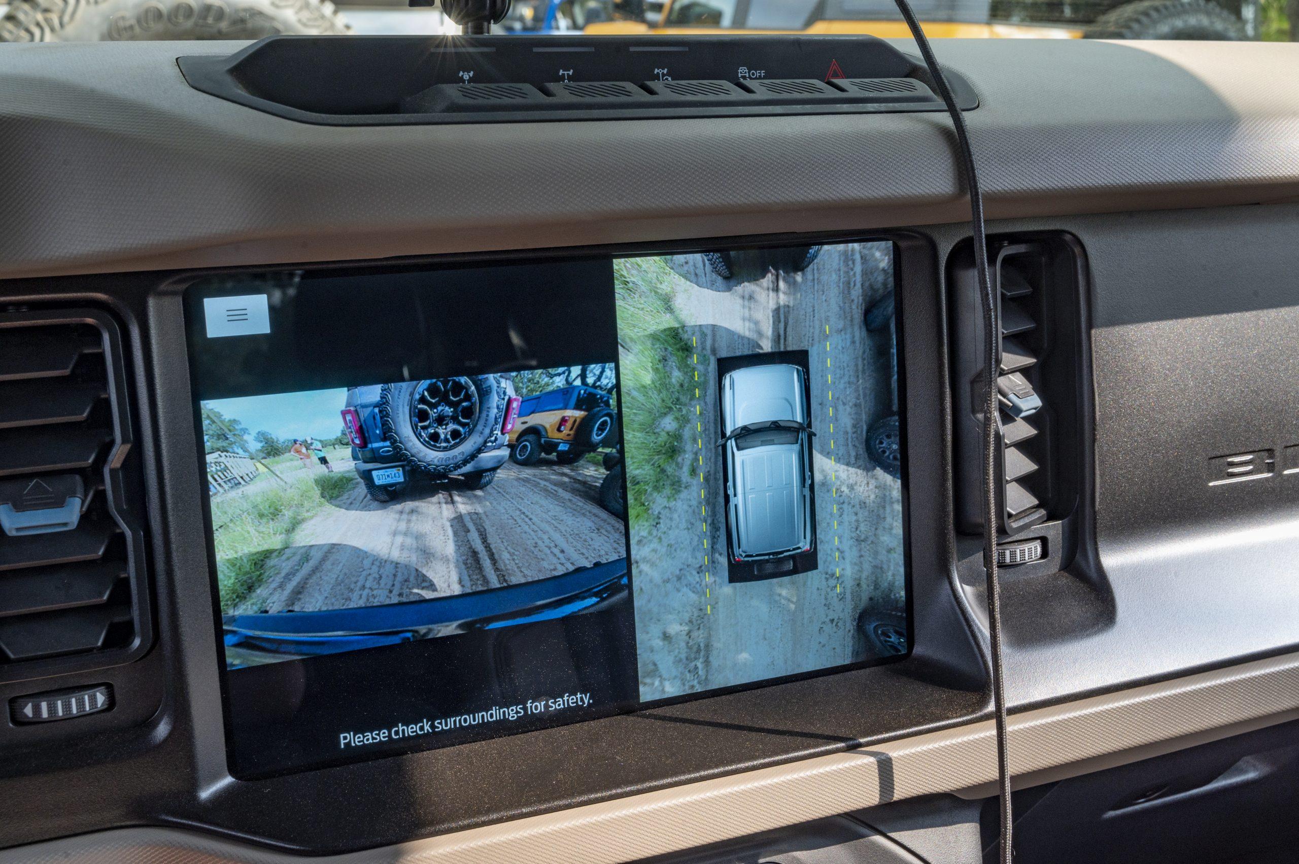 2021 Ford Bronco interior camera views