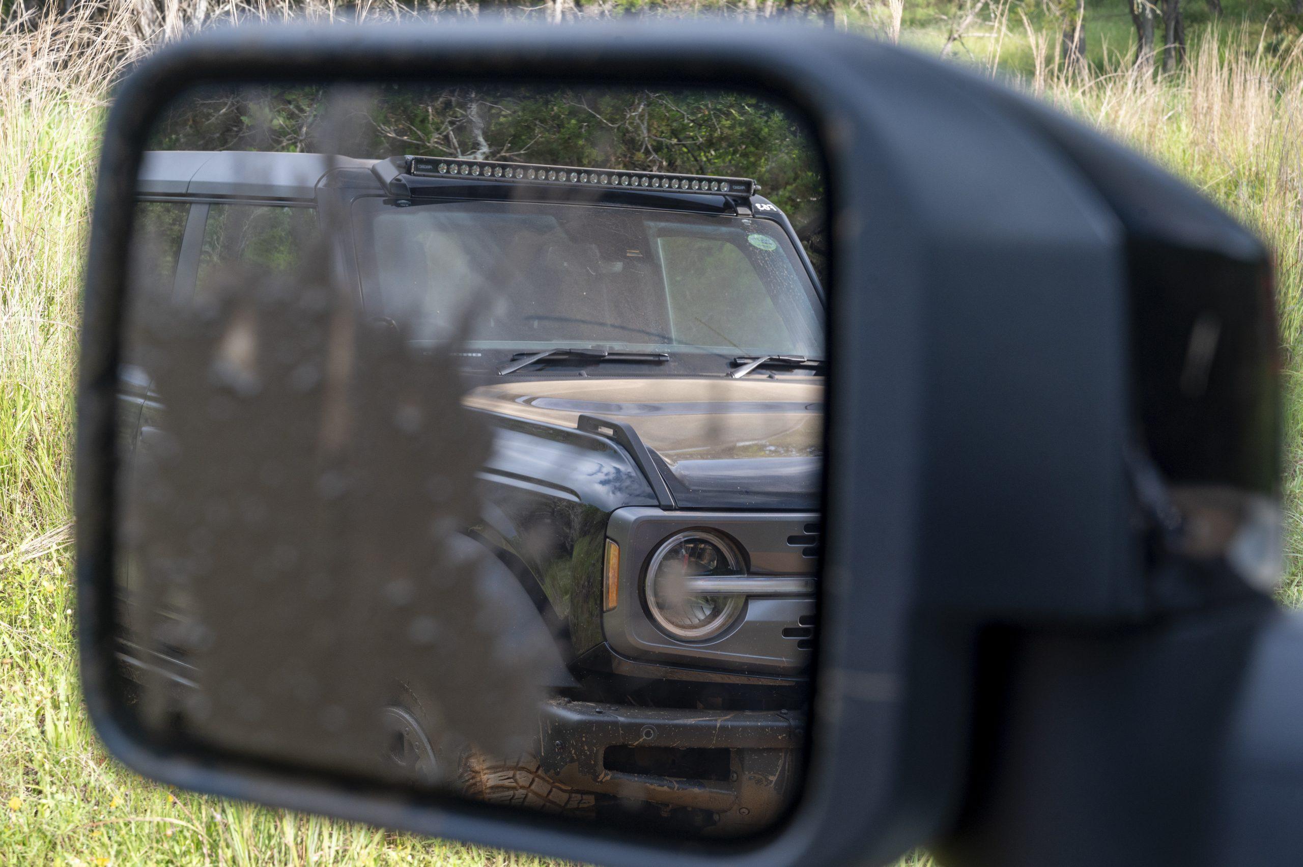 2021 Ford Bronco side mirror views