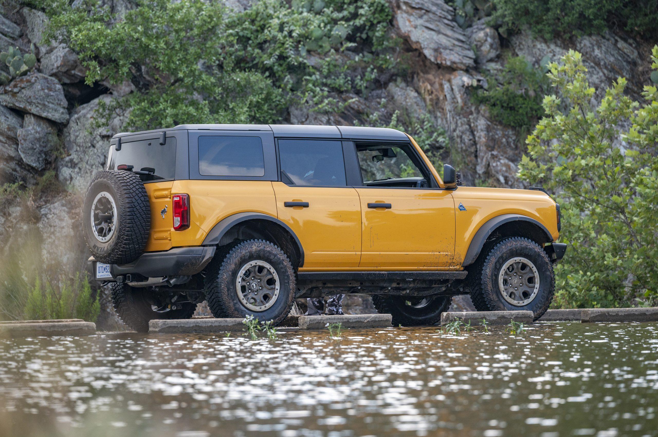 2021 Ford Bronco four door rear three-quarter