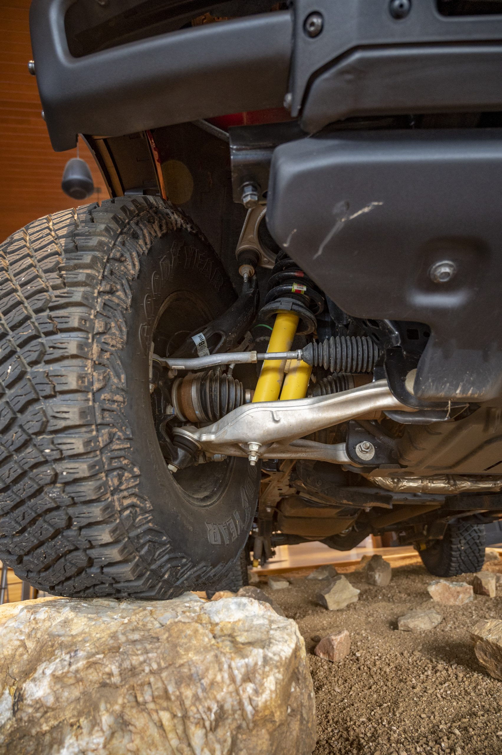 2021 Ford Bronco suspension geometry detail
