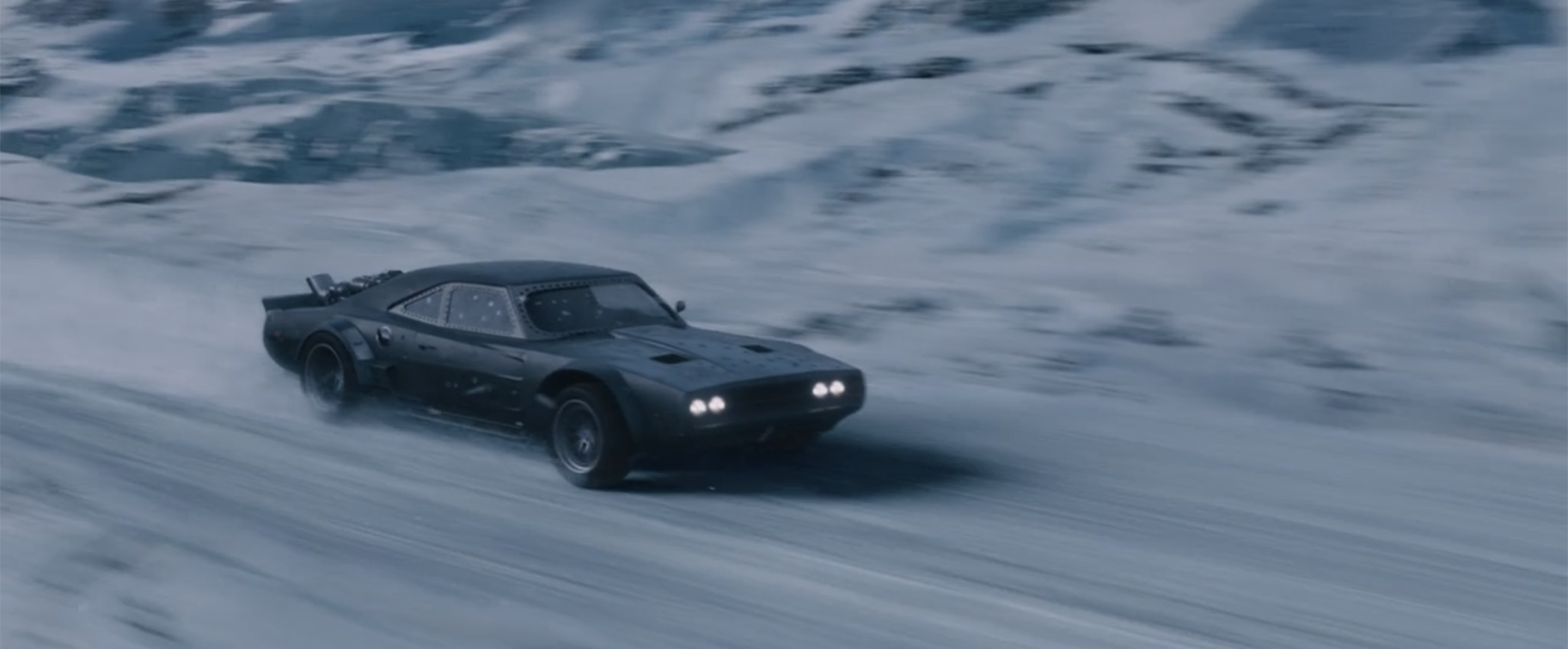 Fast Furious Ice Charger front three-quarter action