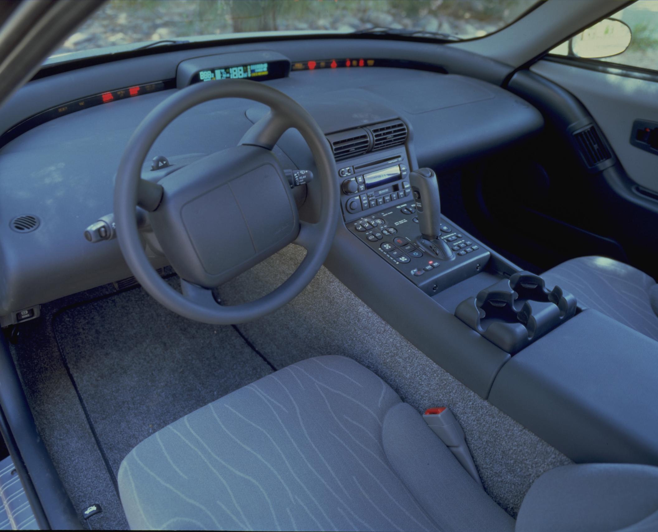 EV1 early GM electric car interior