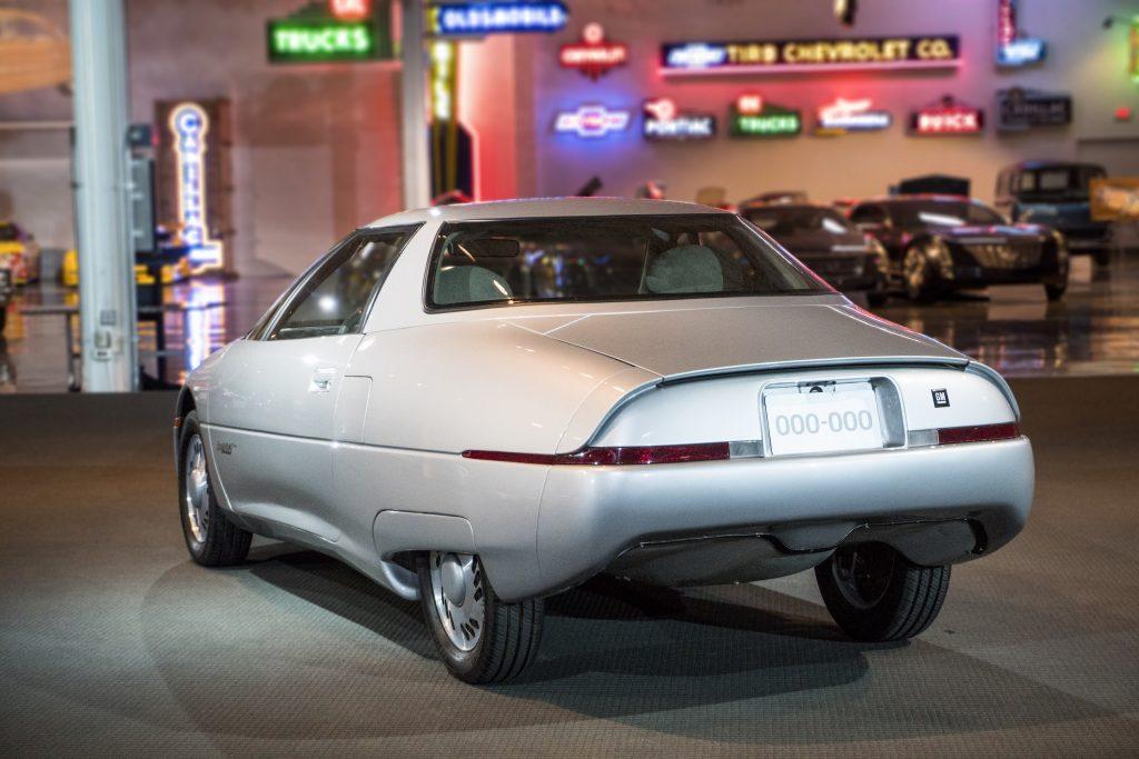 1990 GM Impact Electric Concept Vehicle rear three-quarter