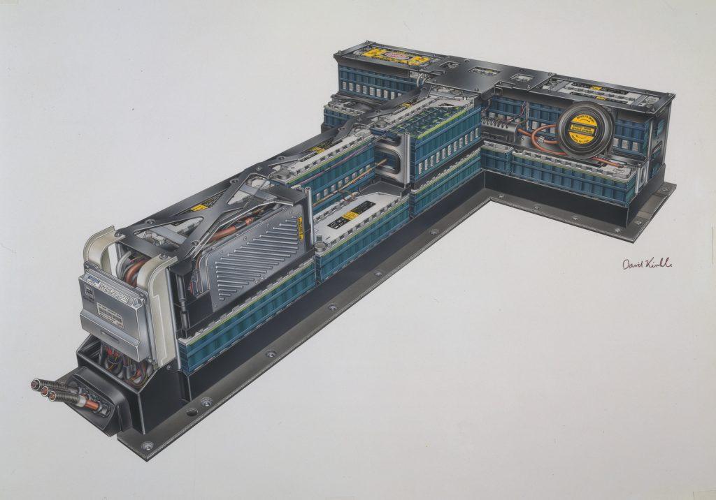EV1 T-shaped battery pack