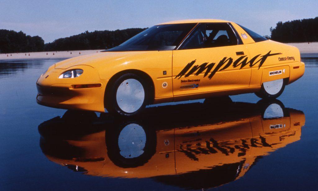 1990 GM Impact Electric Concept front three-quarter