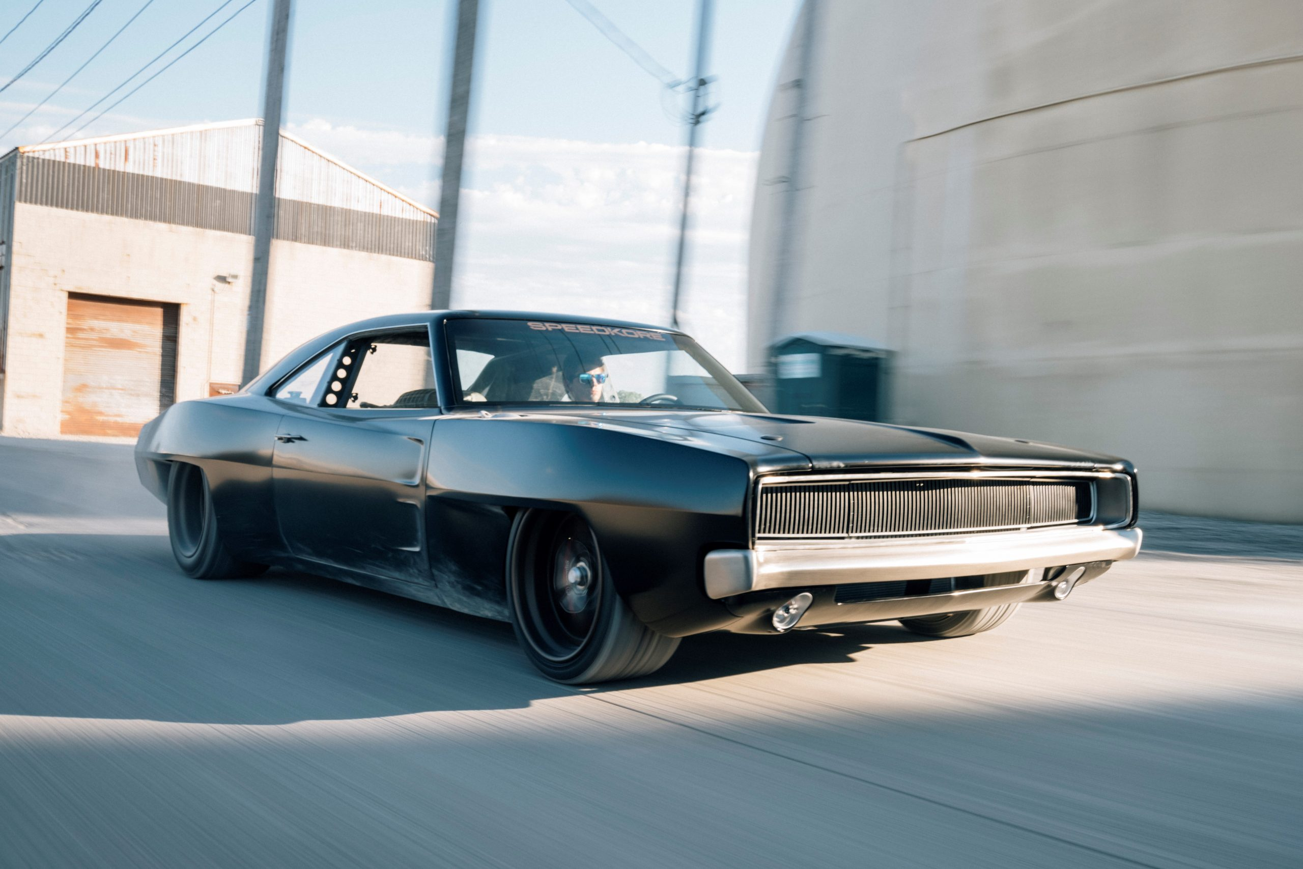 Speedkore charger front three-quarter action