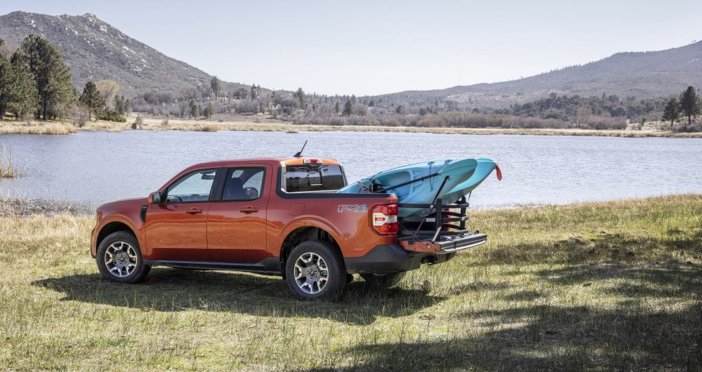 Maverick Ecoboost kayak load