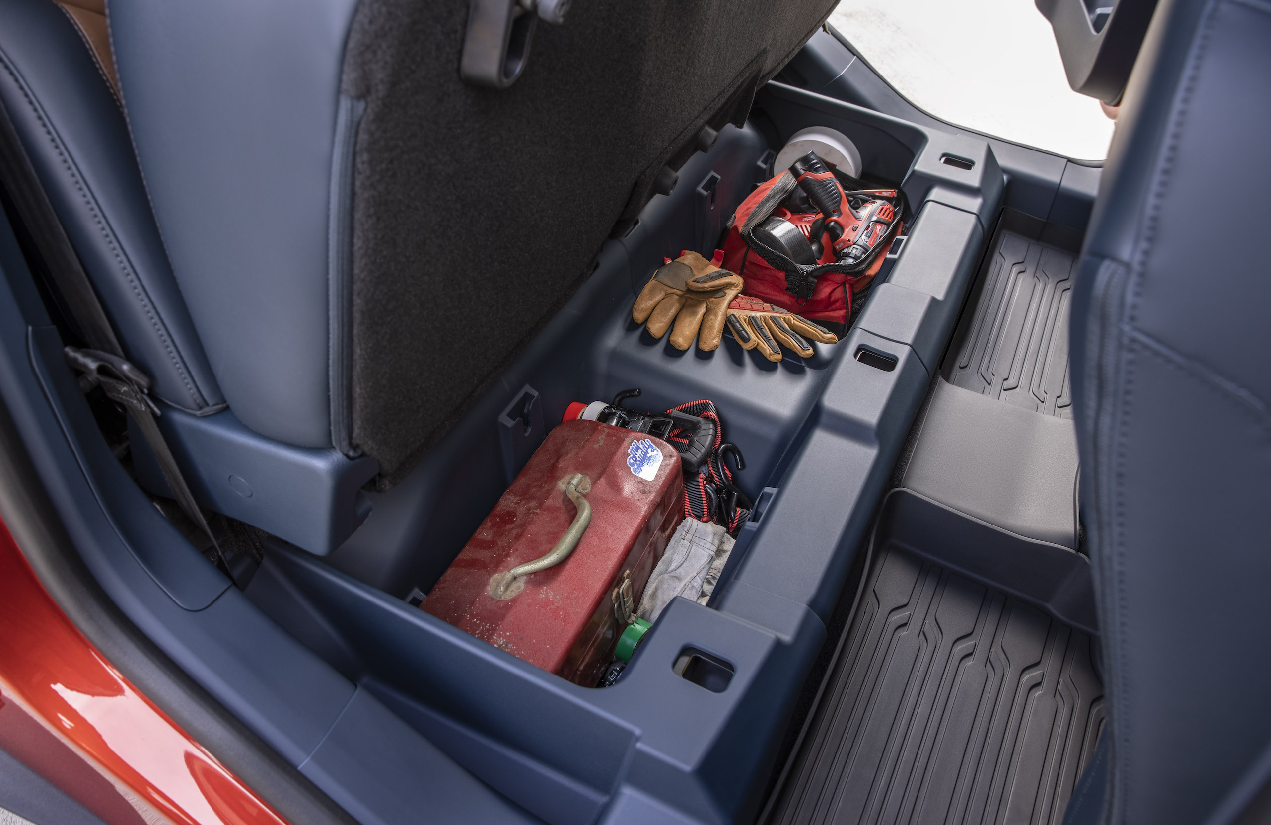 Maverick Ecoboost interior rear seat cargo room