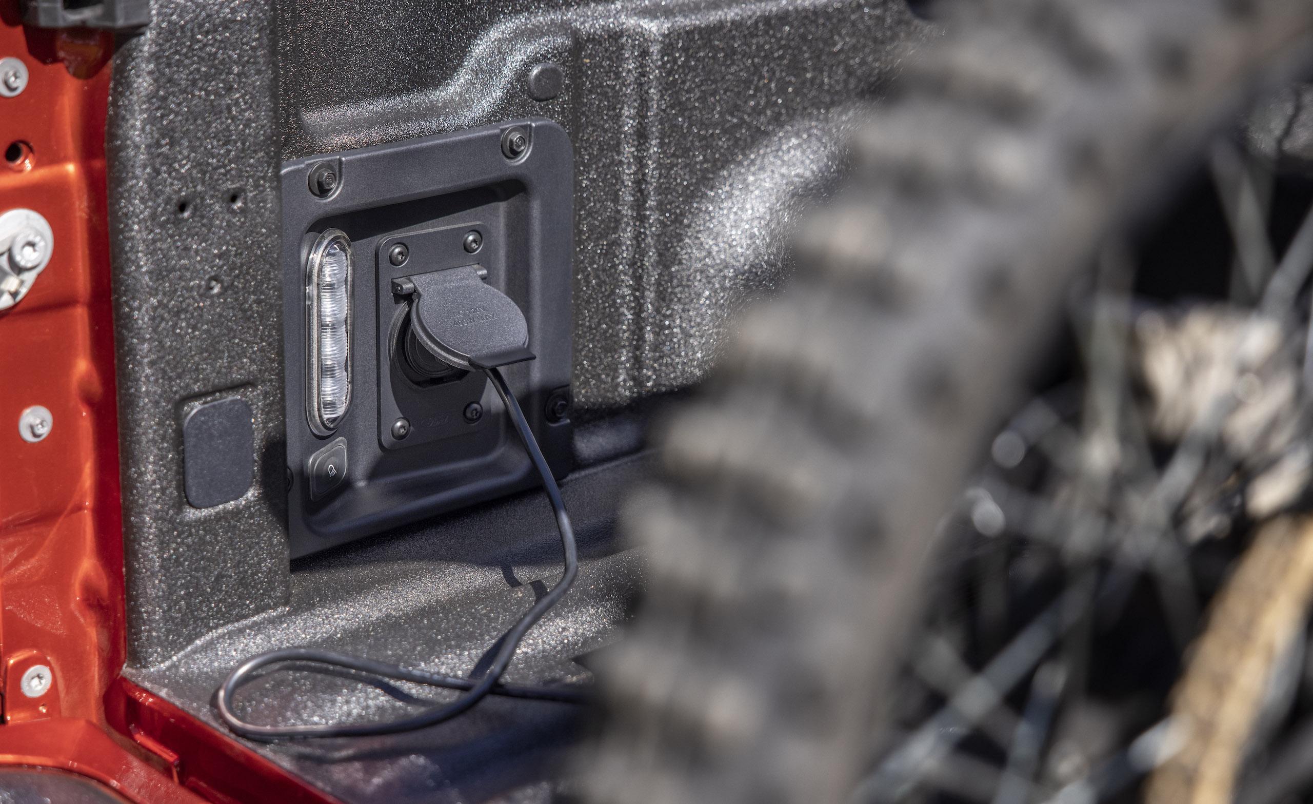Maverick Ecoboost rear cargo bed outlet