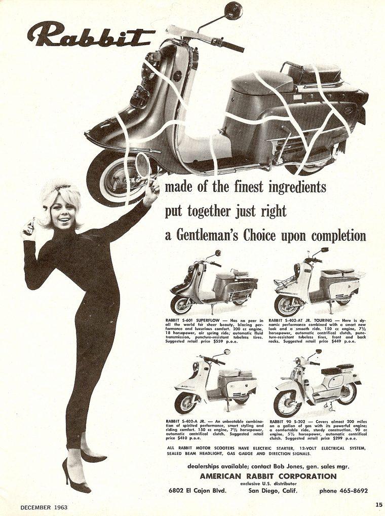 Fuji Rabbit scooter ad