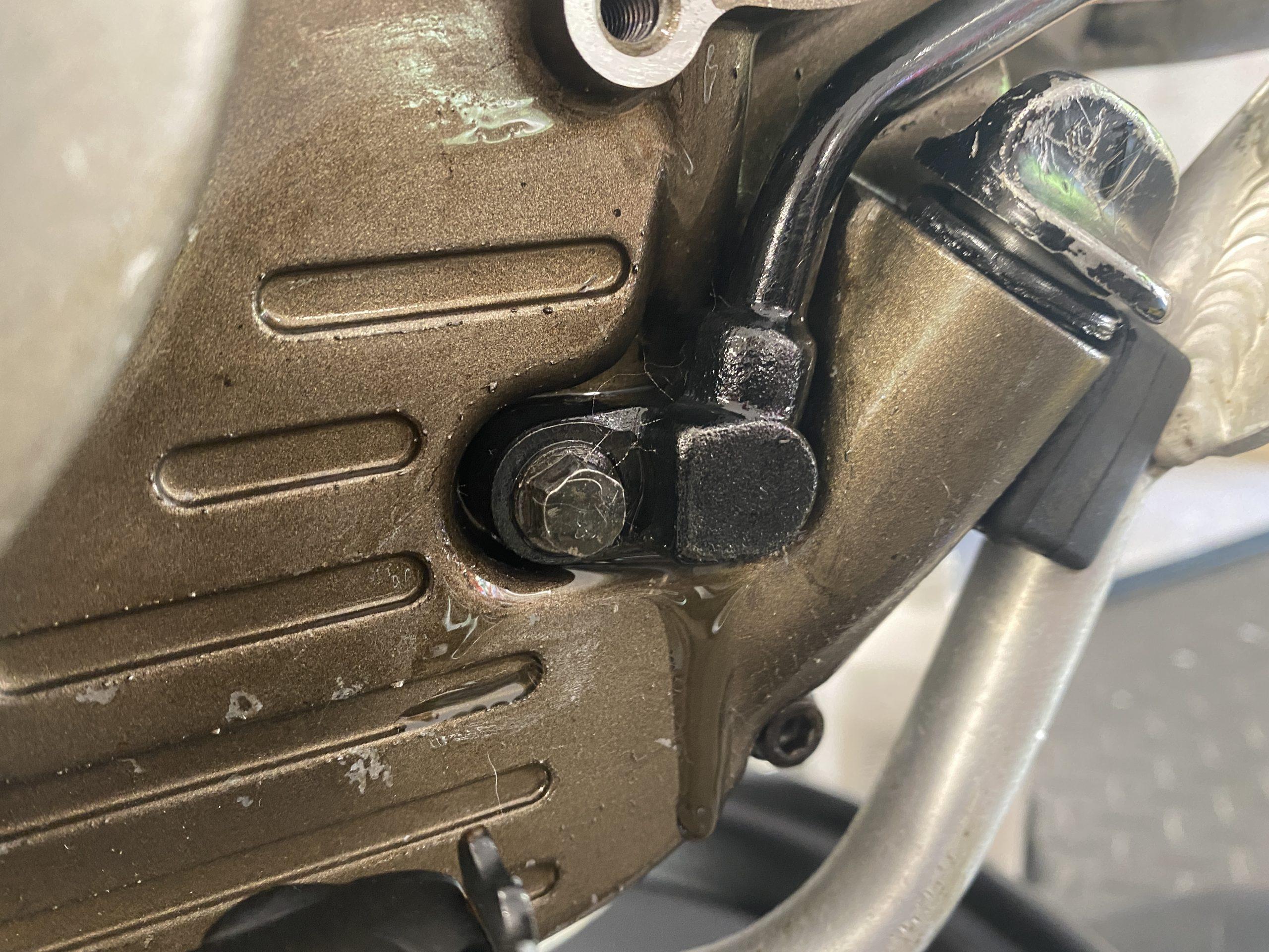 XR250 oil leak