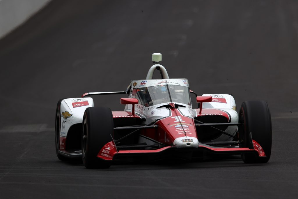 AJ Hildebrand 105th running of the Indianapolis 500 close