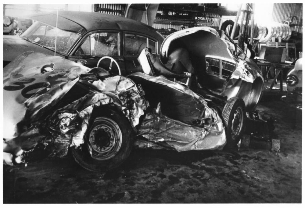James Dean Little Bastard crash