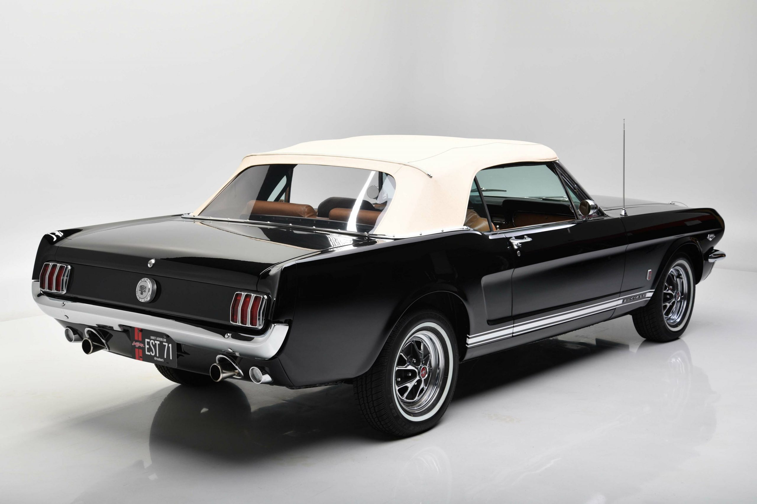 1966 FORD MUSTANG GT K-CODE CONVERTIBLE rear three-quarter