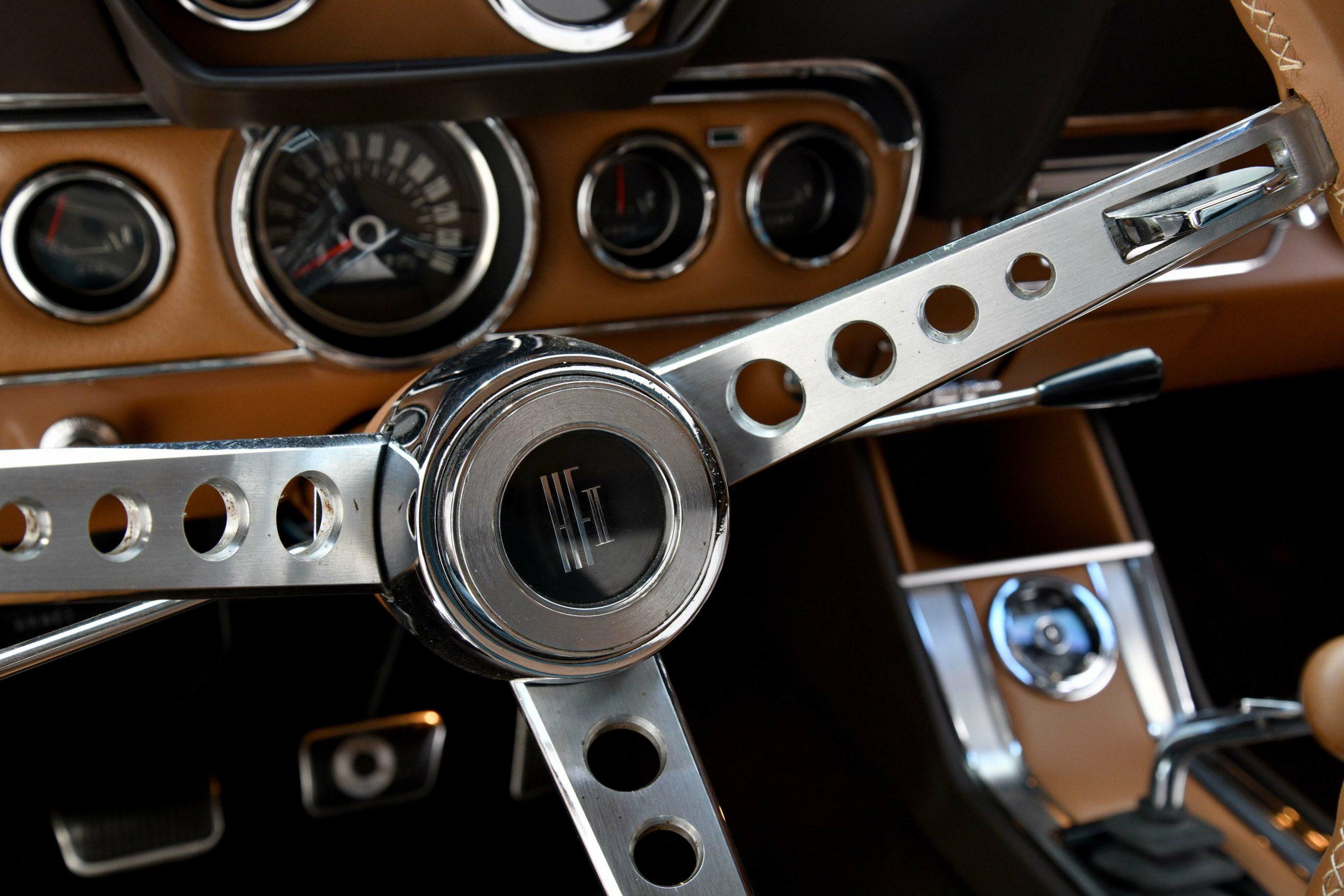 1966 FORD MUSTANG GT K-CODE CONVERTIBLE steering wheel