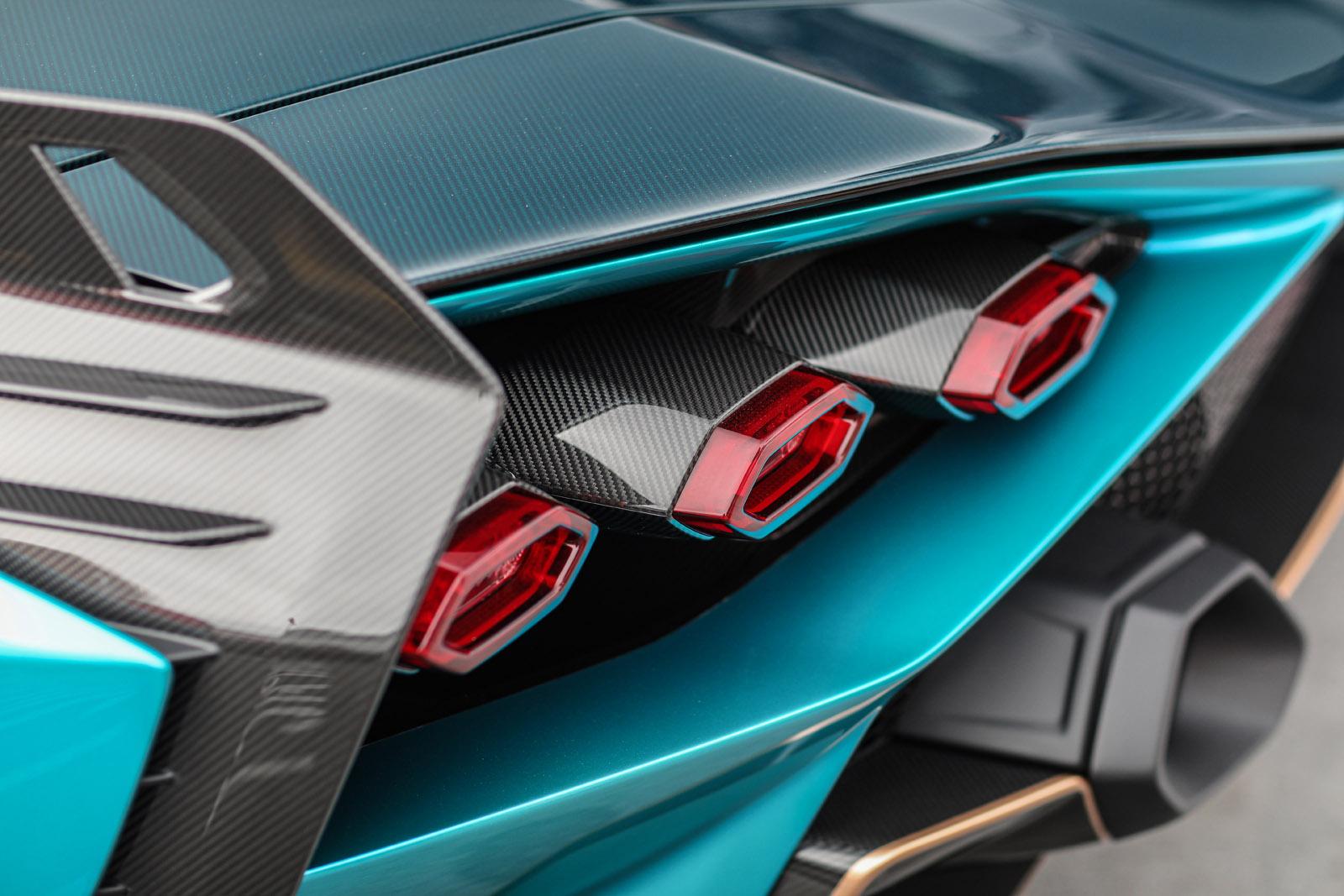 Lamborghini Sian Beverly Hills Tour taillight detail