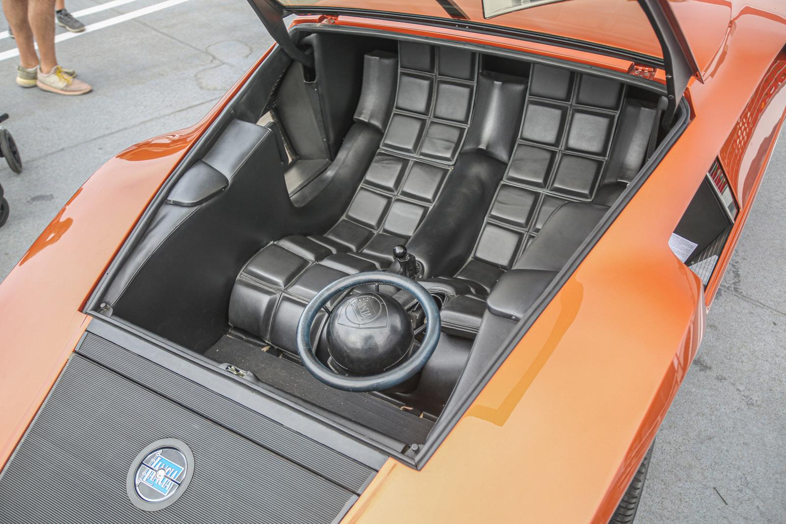 Lancia Stratos Zero interior Beverly Hills Tour