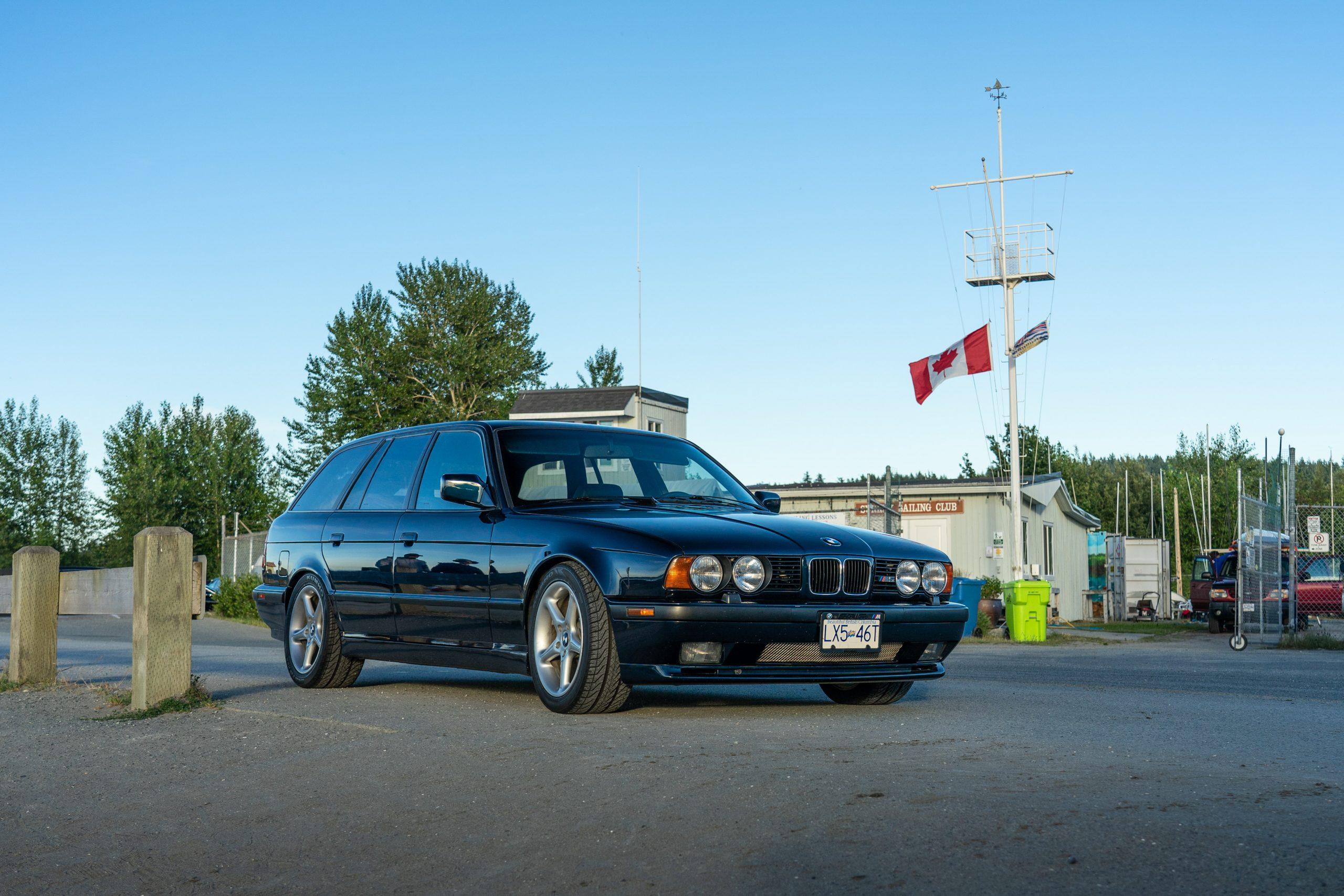M5 Touring front three-quarter