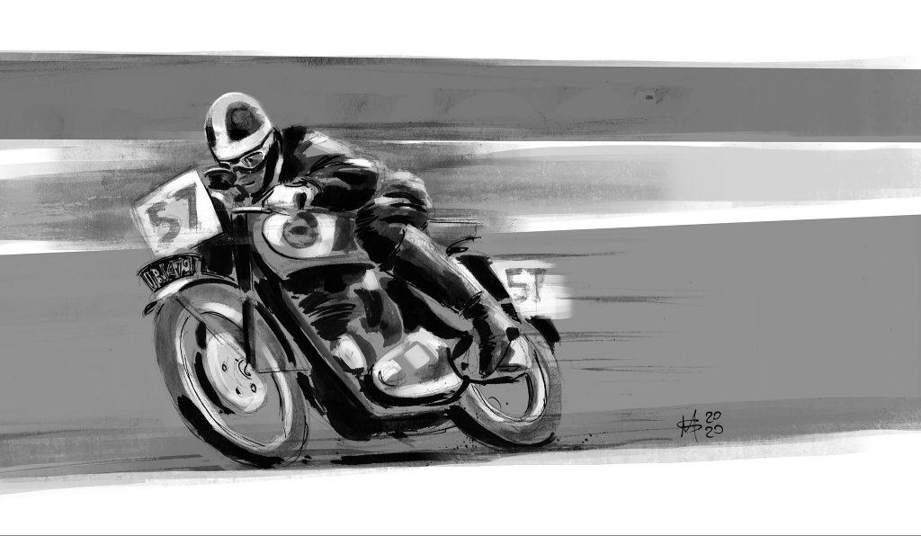Dick Aldous DBD34 motorcycle racing