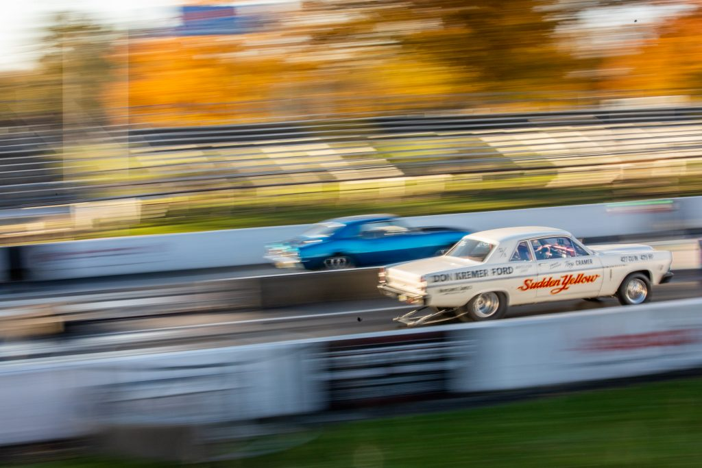 Milan Dragway race action