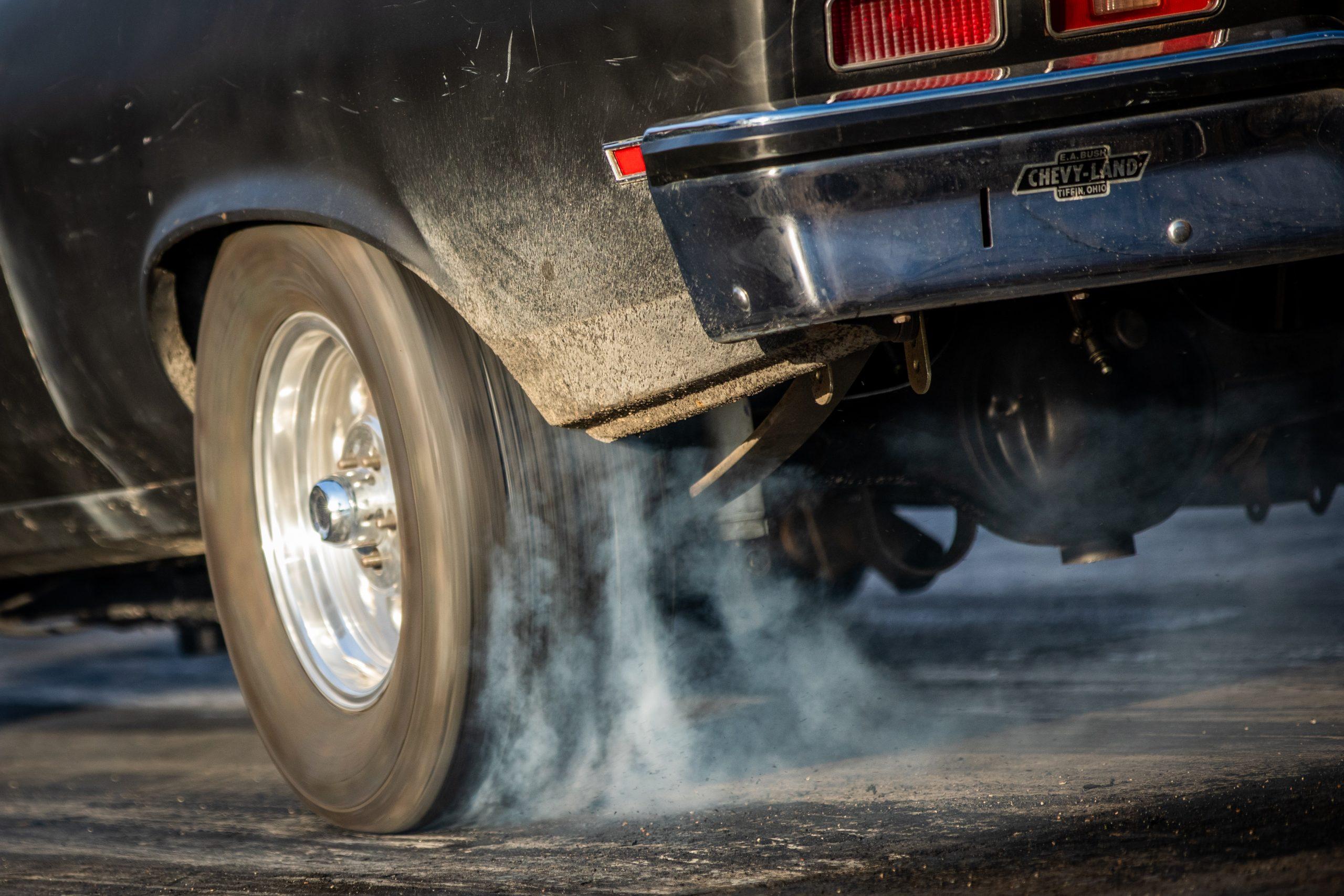 Milan Dragway tire smoke detail