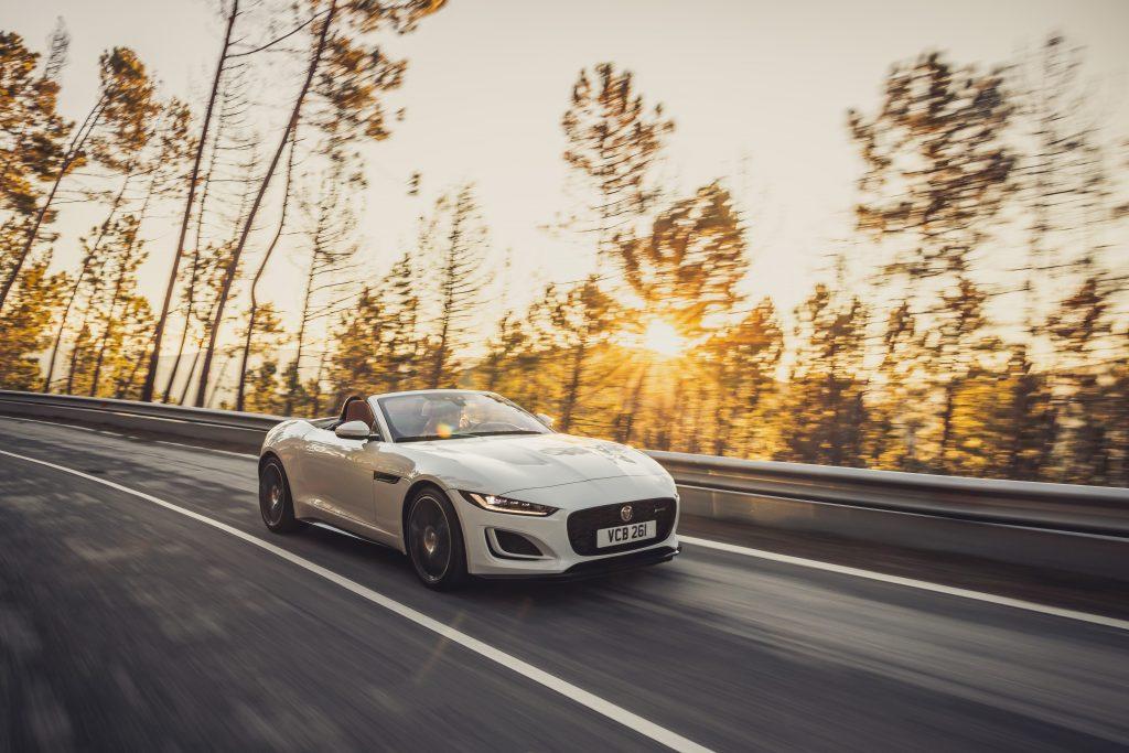 2022 Jaguar F-TYPE R-Dynamic P450 RWD Fuji White rolling