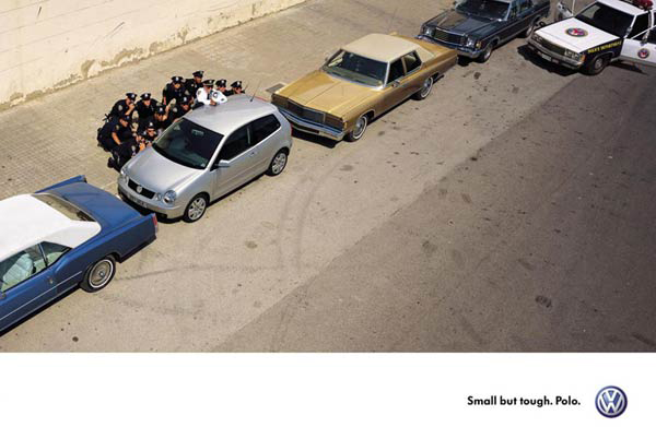 Volkswagen police vintage ad