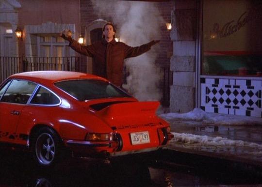 Seinfeld Red Porsche 911 Carrera RS rear
