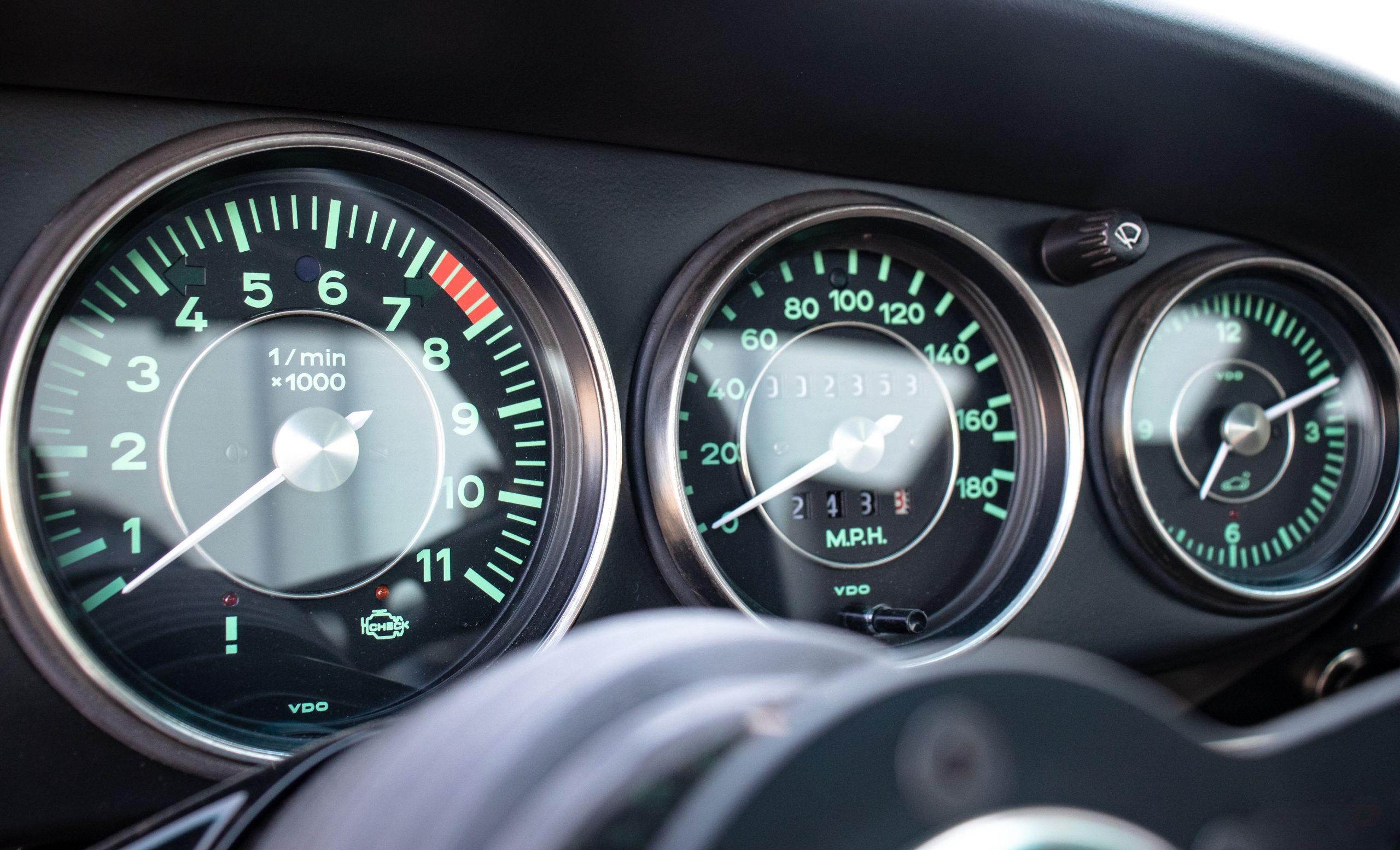 Porsche Singer reimagination car interior gauges