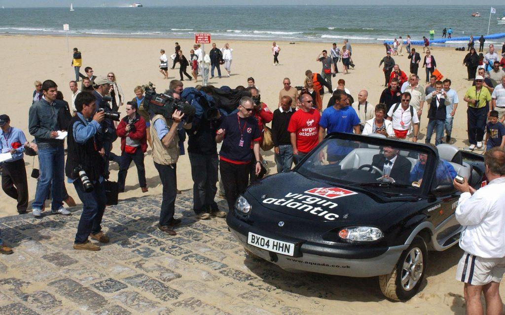 Sir Richard Banson drives ashore France
