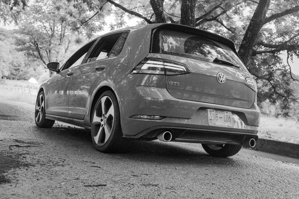 VW GTI rear three-quarter