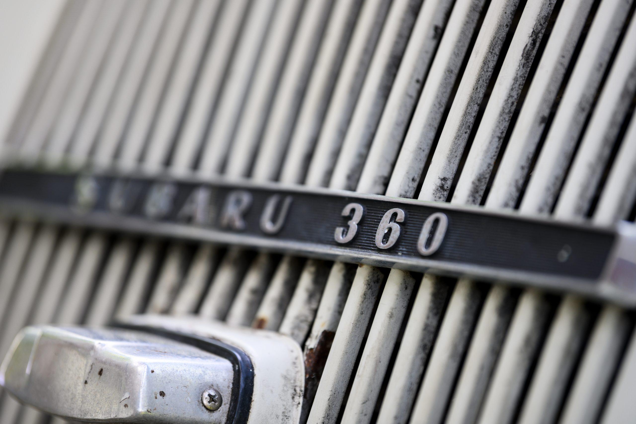 Subaru 360 badge detail