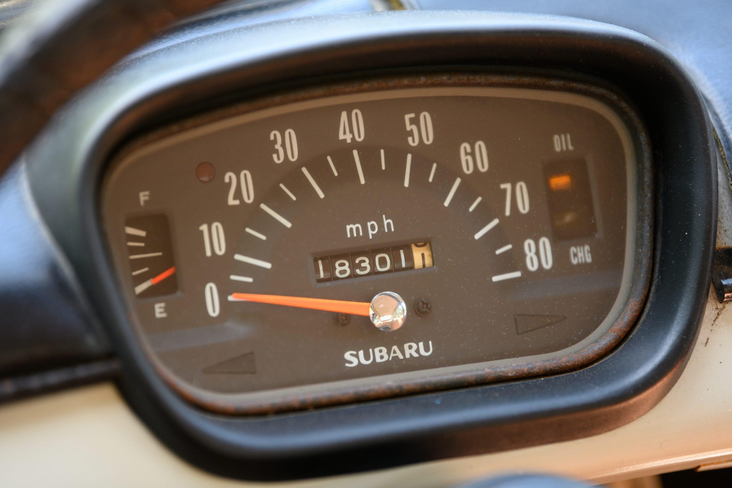 Subaru 360 speedometer