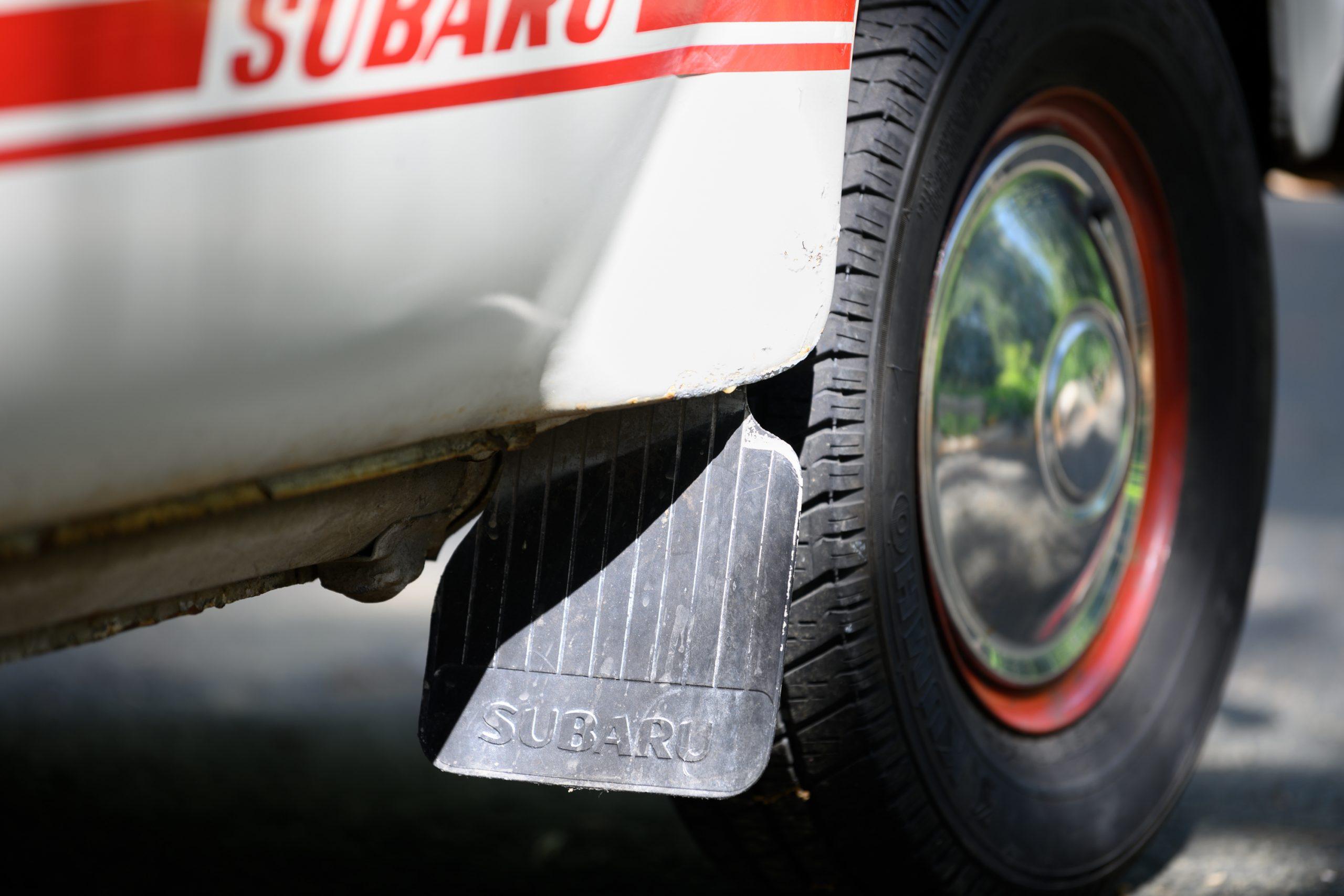 Subaru 360 mudflap detail
