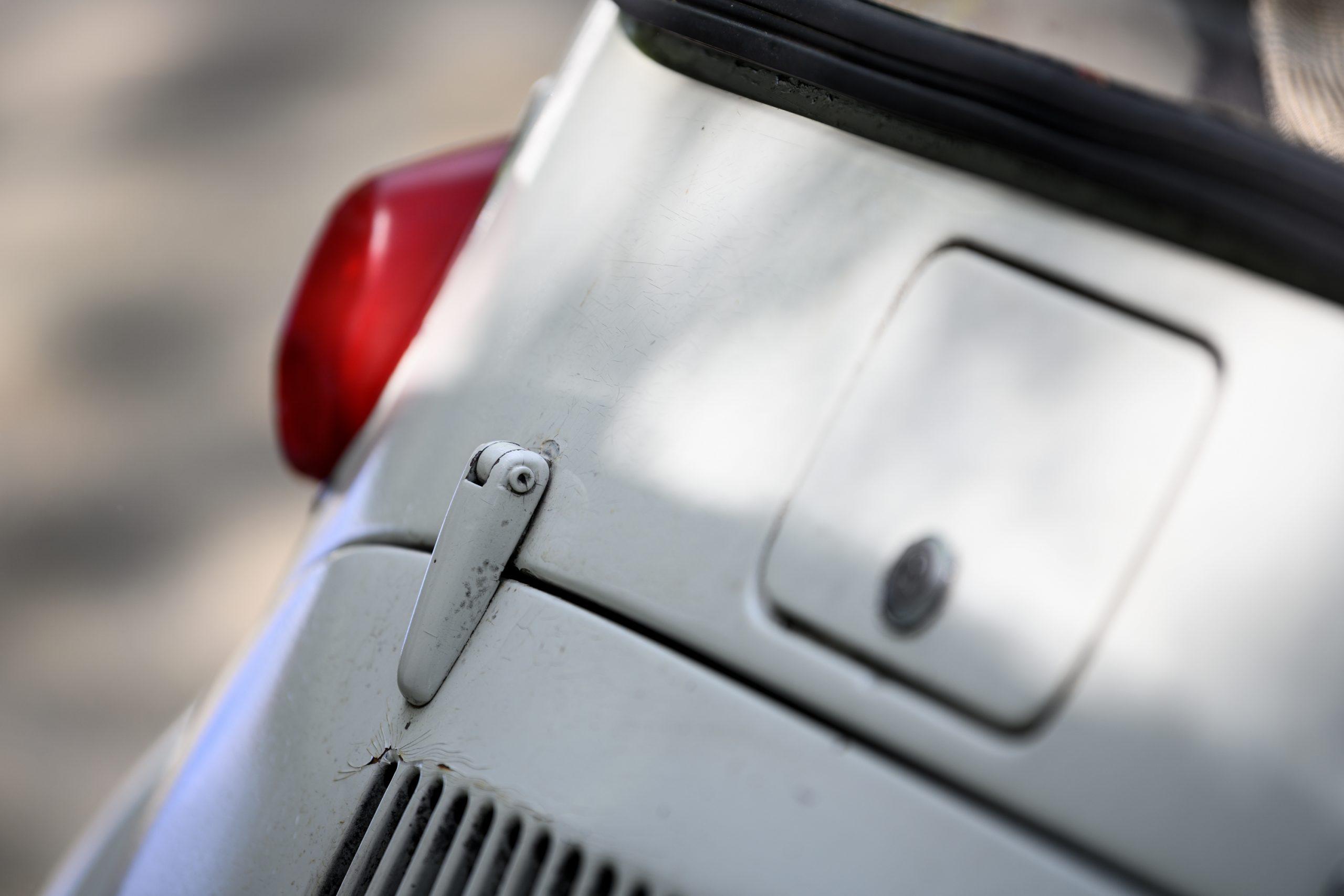 Subaru 360 latch detail