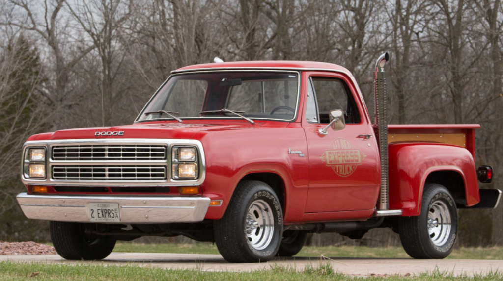 Dodge Lil Red Pickup front three-quarter