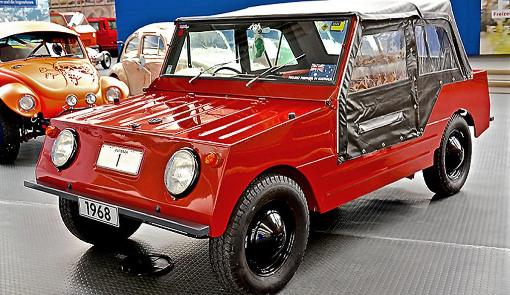 Country Buggy Red front three-quarter