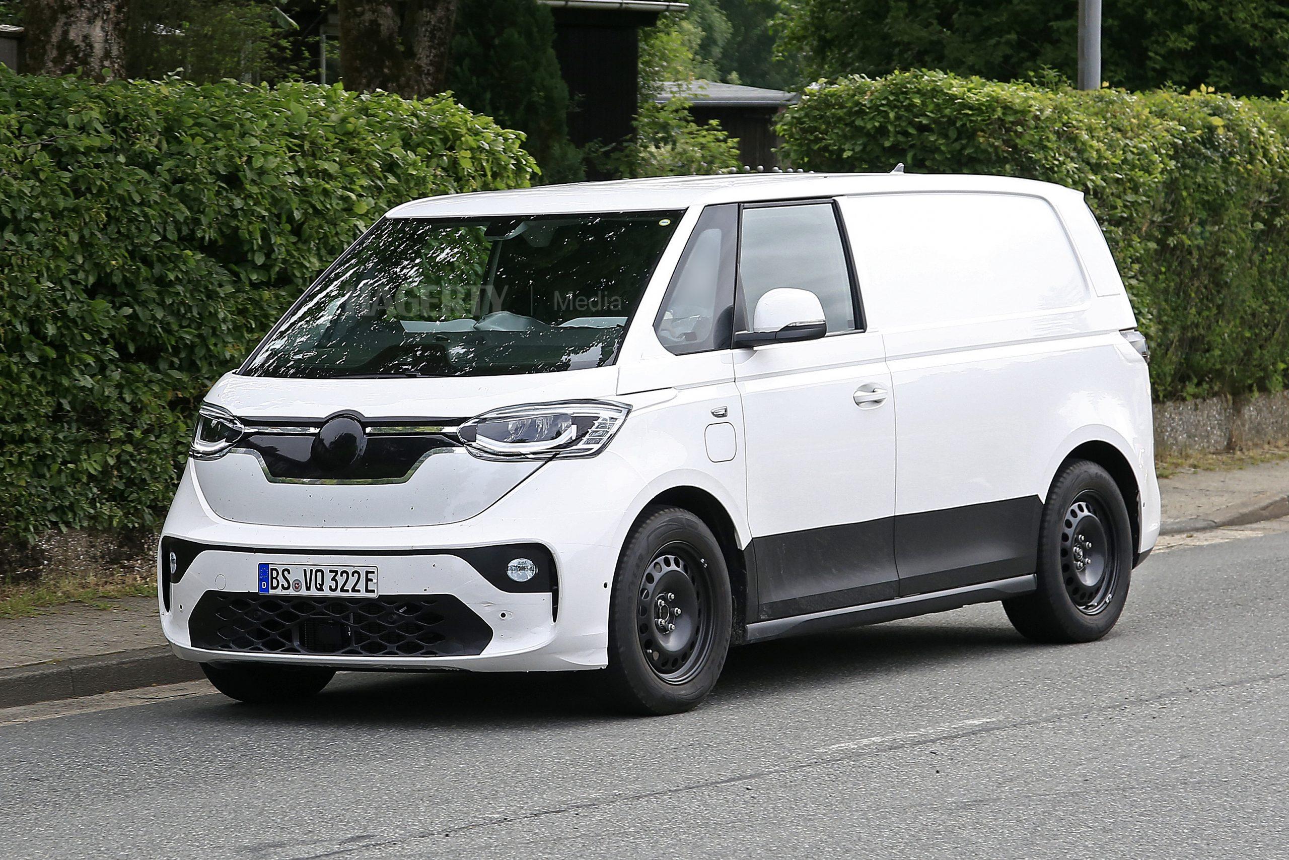 VW ID. Buzz Cargo front three-quarter