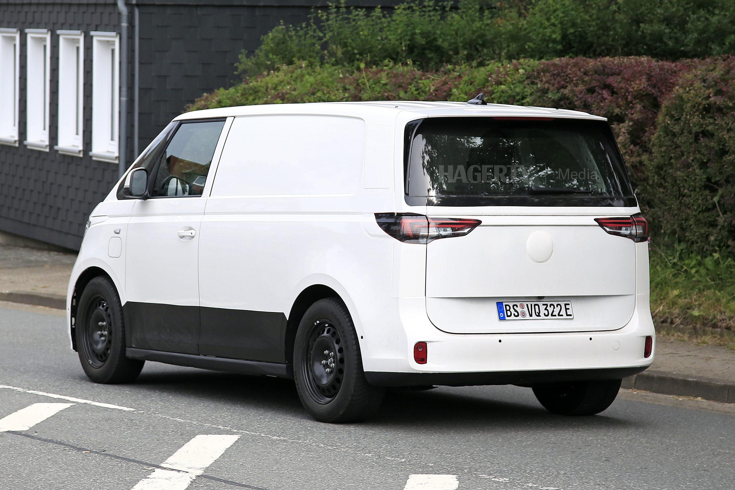 VW ID. Buzz Cargo rear three-quarter