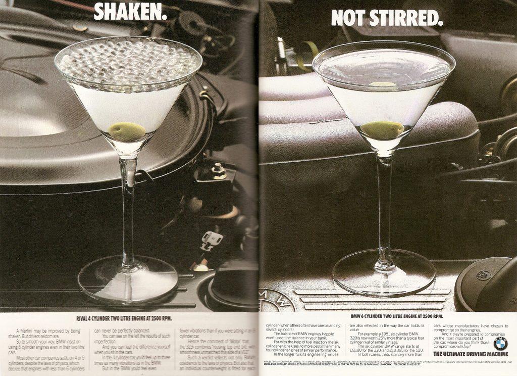 BMW martini vintage ad
