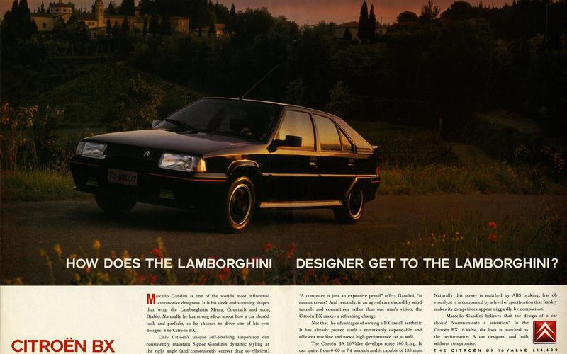 Citroën lamborghini vintage ad