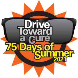 75 Days of Summer Drive Toward a Cure logo